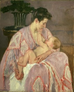 Mary Cassatt (1844-1926). Young Mother Nursing Her Child 1906